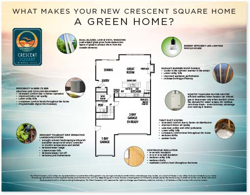 flyer of green home features