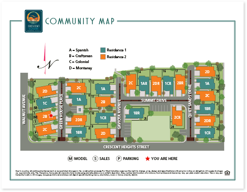 illustrated community site map